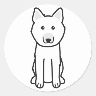 Norwegian Buhund Dog Cartoon Classic Round Sticker