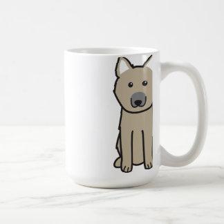 Norwegian Buhund Dog Cartoon Coffee Mug