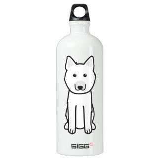 Norwegian Buhund Dog Cartoon Water Bottle