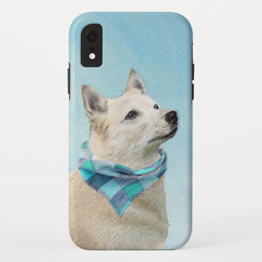 Norwegian Buhund Painting - Cute Original Dog Art iPhone XR Case