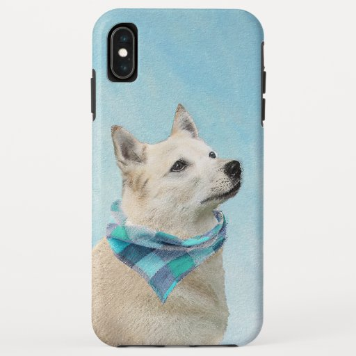 Norwegian Buhund Painting - Cute Original Dog Art iPhone XS Max Case