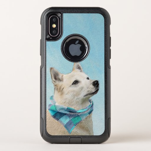 Norwegian Buhund Painting - Cute Original Dog Art OtterBox Commuter iPhone XS Case