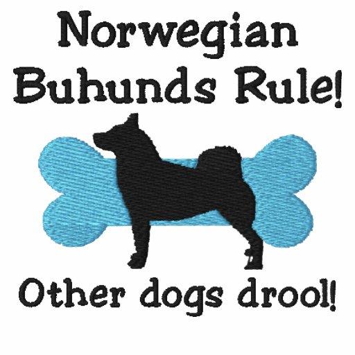 Norwegian Buhunds Rule Embroidered Hoodie