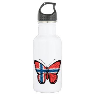Norwegian Butterfly Flag Stainless Steel Water Bottle