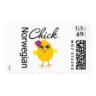 Norwegian Chick Stamp