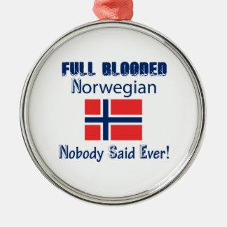 Norwegian  citizen design metal ornament