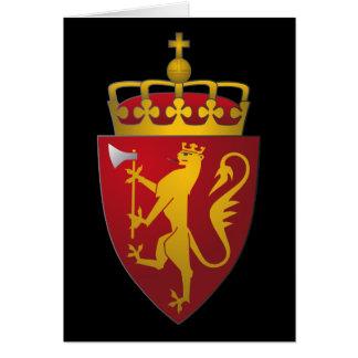 Norwegian Coat of Arms Card
