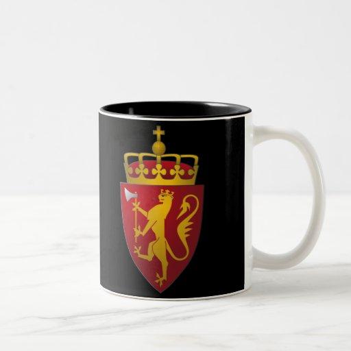"""""""Norwegian Coat of Arms"""" Coffee Mugs"""