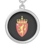 Norwegian coat of arms custom necklace