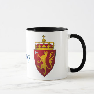 Norwegian Coat of Arms Scandinavian Heraldry Mug