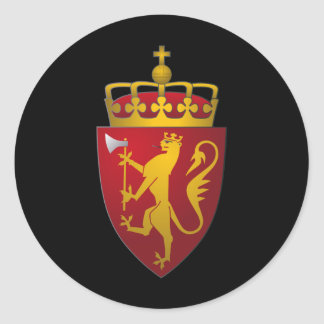 Norwegian Coat of Arms Scandinavian Heraldry Classic Round Sticker