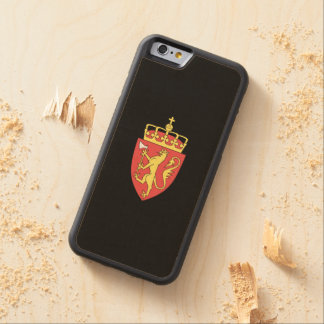 Norwegian coat of arms carved® maple iPhone 6 bumper case