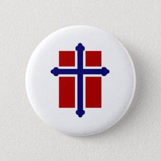 Norwegian Cross Flag Pinback Button