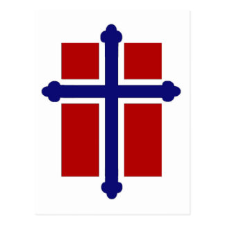 Norwegian Cross Flag Postcard