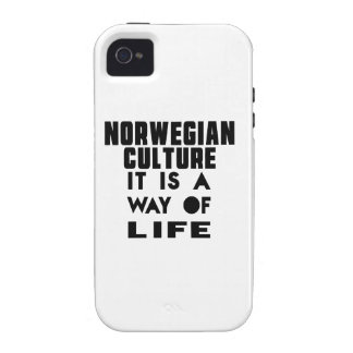 NORWEGIAN CULTURE IT IS A WAY OF LIFE Case-Mate iPhone 4 CASES