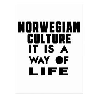 NORWEGIAN CULTURE IT IS A WAY OF LIFE POSTCARD