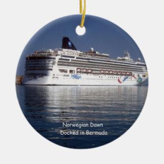 Norwegian Dawn Docked #2 Ceramic Ornament