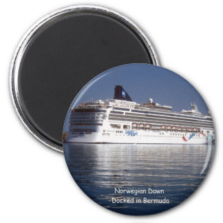 Norwegian Dawn in Bermuda 2 Inch Round Magnet
