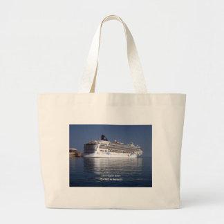 Norwegian Dawn in Bermuda Large Tote Bag