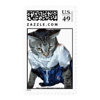 Norwegian dress cat stamp