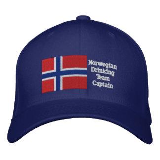 Norwegian Drinking Team Captain Embroidered Baseball Cap