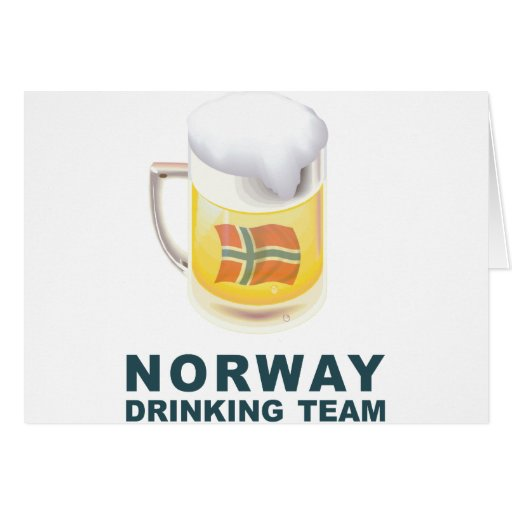 Norwegian Drinking Team Greeting Card