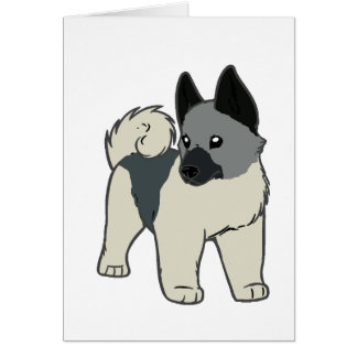 norwegian elkhound cartoon card