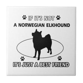 Norwegian Elkhound dog breed designs Ceramic Tile