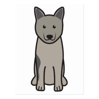 Norwegian Elkhound Dog Cartoon Postcard