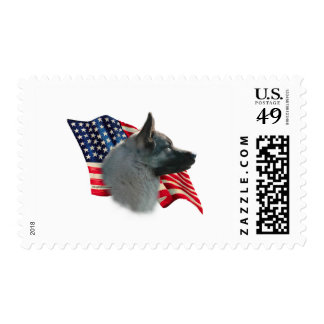 Norwegian Elkhound Flag Postage Stamp