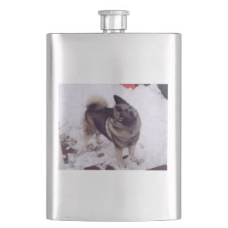 Norwegian_Elkhound_full 2 Hip Flask