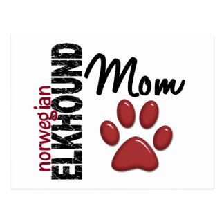 Norwegian Elkhound Mom 2 Postcard