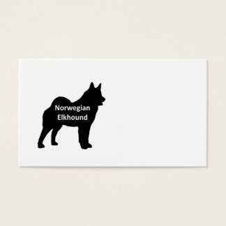 Norwegian Elkhound  name silo black.png Business Card