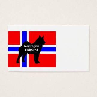 norwegian elkhound name silo on norway-flag.png business card