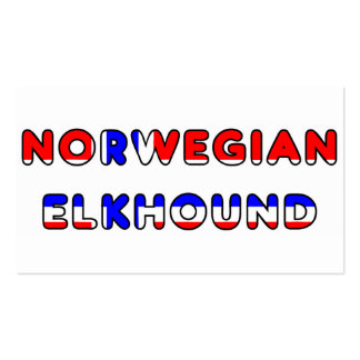 norwegian elkhound norway flag in name business card
