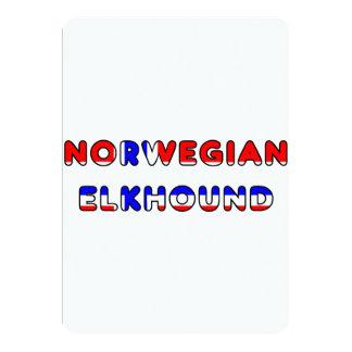 norwegian elkhound norway flag in name card