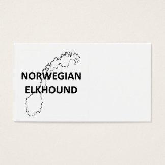 norwegian elkhound norway outline.png business card