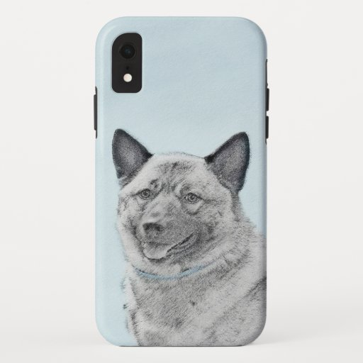 Norwegian Elkhound Painting - Original Dog Art iPhone XR Case