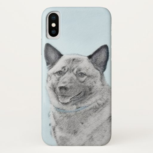 Norwegian Elkhound Painting - Original Dog Art iPhone X Case