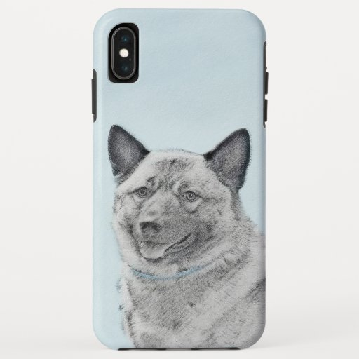 Norwegian Elkhound Painting - Original Dog Art iPhone XS Max Case