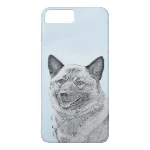 Norwegian Elkhound Painting - Original Dog Art iPhone 8 Plus/7 Plus Case