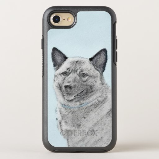 Norwegian Elkhound Painting - Original Dog Art OtterBox Symmetry iPhone SE/8/7 Case