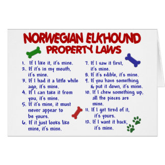 NORWEGIAN ELKHOUND Property Laws 2 Card