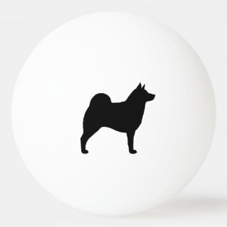 Norwegian Elkhound Silhouette Ping-Pong Ball