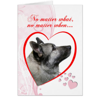 Norwegian Elkhound Valentine Card