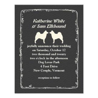 Norwegian Elkhounds Wedding Announcement