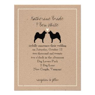 Norwegian Elkhounds Wedding Invitation