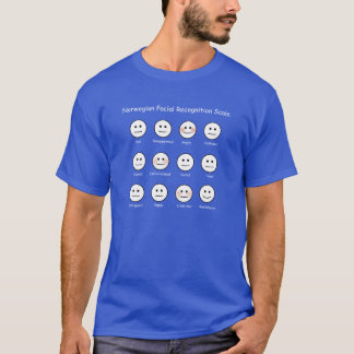 Norwegian Facial Recognition Scale funny T-shrt T-Shirt