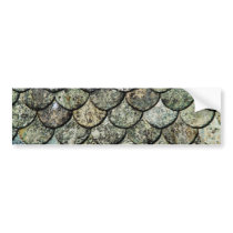 Norwegian Fish Scale Pattern Slate Roof Bumper Sticker