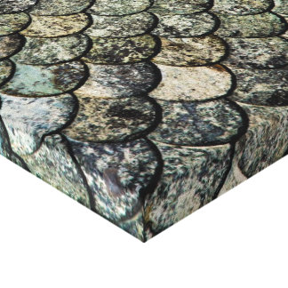 Norwegian Fish Scale Pattern Slate Roof Canvas Print
